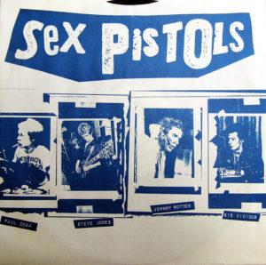 Punk-Band Sex Pistols: Paul Cook, Steve Jones, Johnny Rotten und Sid Vicious